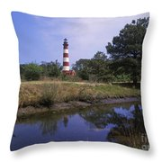 Assateague Lighthouse - Fm000081 Throw Pillow