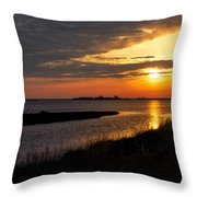 Assateague Sunrise Vertical Throw Pillow