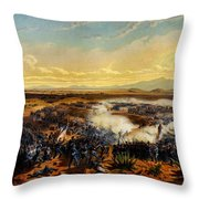 Assault Of Contreras 1851 Throw Pillow