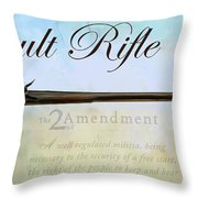 Assault Rifle Throw Pillow