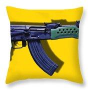 Assault Rifle Pop Art - 20130120 - V2 Throw Pillow