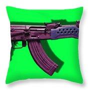 Assault Rifle Pop Art - 20130120 - V3 Throw Pillow