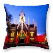 Assembly Hall Slc Temple Throw Pillow by La Rae  Roberts