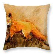 Assessing The Situation Antiqued Throw Pillow
