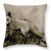 Assessing The Situation Black And White Throw Pillow