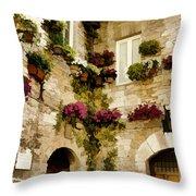 Assisi Courtyard Throw Pillow