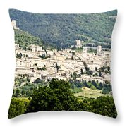 Assisi Italy - Medieval Hilltop City Throw Pillow
