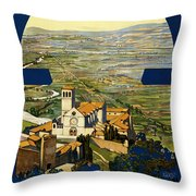 Assisi Italy Throw Pillow by Georgia Fowler