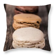 Assorted Macaroons Vintage Throw Pillow