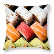 Assortment Of Sushi Throw Pillow