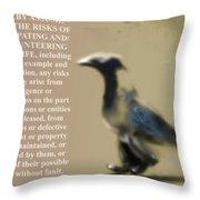 Assuming Corvus Throw Pillow