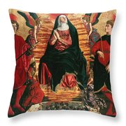 Assumption Of Mary With Sts Minias And Julian Throw Pillow