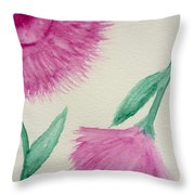 Aster In The Pink Throw Pillow
