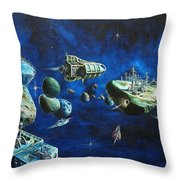 Asteroid City Throw Pillow