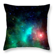 Asteroid Zips By Orion Nebula Throw Pillow