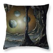 Asteroid's Eye Throw Pillow