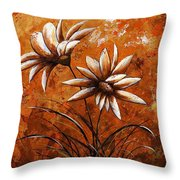 Asters 007 Throw Pillow