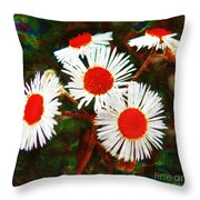 Asters Bright And Bold Throw Pillow