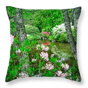 Asticou Azalea Garden Throw Pillow