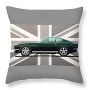 Aston Martin V8 Vantage Throw Pillow