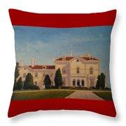 Astors Beechwood Mansion Throw Pillow