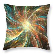 Astral Flower Throw Pillow