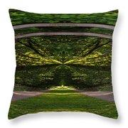 Astral Garden Entrance Throw Pillow
