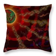 Astral Rays Throw Pillow