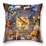 Astrology Throw Pillow by Ciro Marchetti
