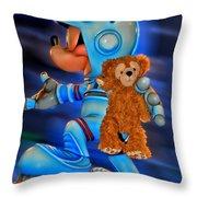 Astronaut Training Bear Throw Pillow