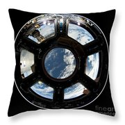 Astronauts View From The Space Station Throw Pillow