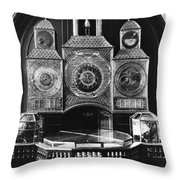 Astronomical Clock, C1750 Throw Pillow