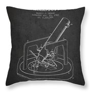Astronomical Telescope Patent From 1943 - Dark Throw Pillow