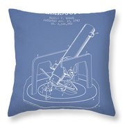 Astronomical Telescope Patent From 1943 - Light Blue Throw Pillow