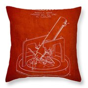 Astronomical Telescope Patent From 1943 - Red Throw Pillow