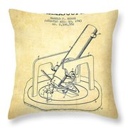 Astronomical Telescope Patent From 1943 - Vintage Throw Pillow