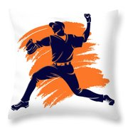 Astros Shadow Player2 Throw Pillow