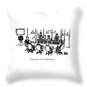 At A Corporate Board Meeting Throw Pillow