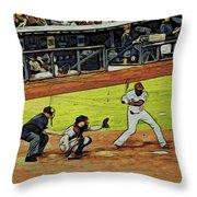 At Bat Throw Pillow