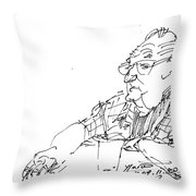 At Coffee Table Throw Pillow