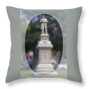 At Ease Soldier Throw Pillow