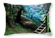 At Home In Her Forest Keep - Pacific Northwest Throw Pillow