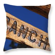 At Home On The Ranch Throw Pillow