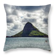 At Mokoli'i's Summit Throw Pillow