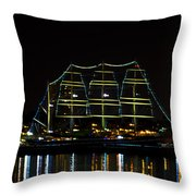 At Night On The  Delaware River - The Mushulu Throw Pillow