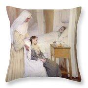 At Notre-dame Du Perpetuel Bon Secours Hospital Throw Pillow