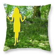 At One With Nature Throw Pillow