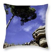 At Parc Guell In Barcelona - Spain Throw Pillow