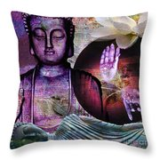 At Peace Throw Pillow by M Montoya Alicea