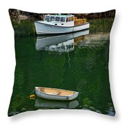 At Rest In The Cove Throw Pillow